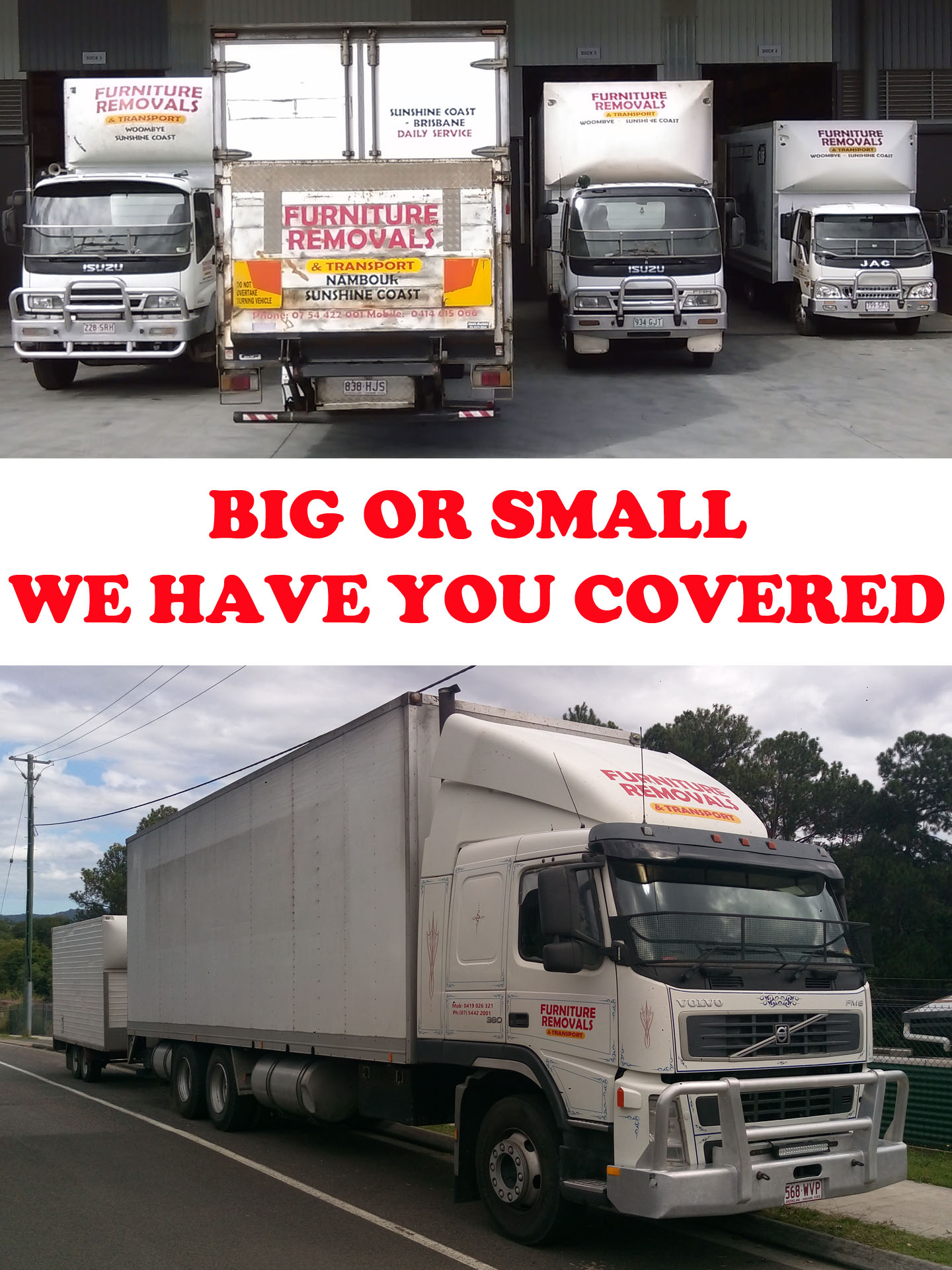 sunshine coast removals fleet